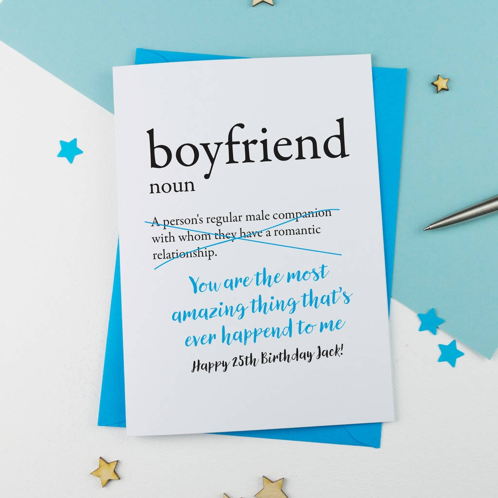birthday card for boyfriend personalised