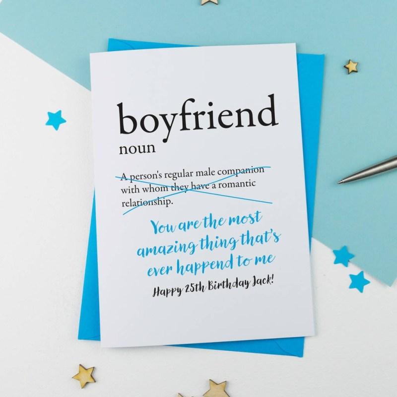 birthday card for boyfriend personalised