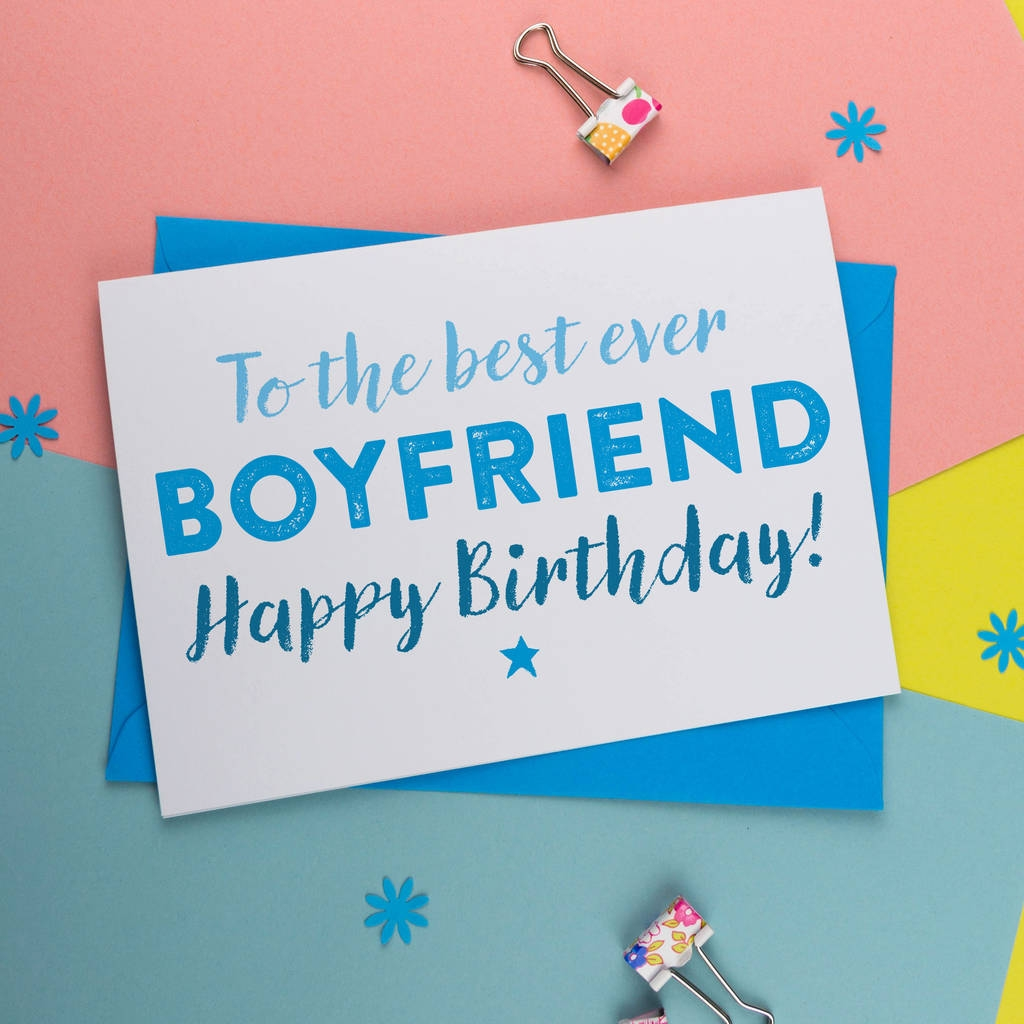 birthday card for boyfriend