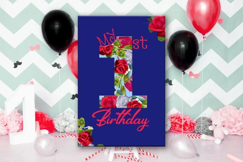 birthday card happy first birthdaycute 1st birthday sale