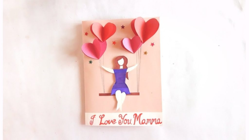 birthday greeting card idea specially for mom easy to make card idea