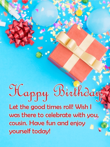 birthday party cards for cousin birthday greeting cards