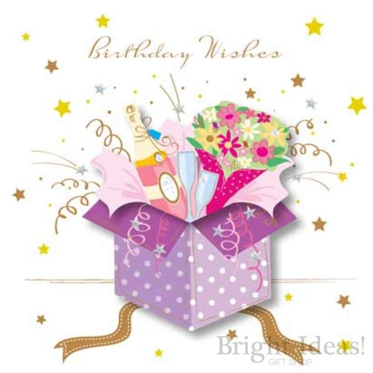 birthday wishes gift box presents birthday card