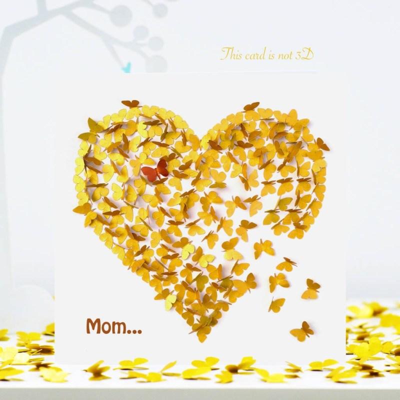 butterfly mom birthday card mom butterfly card