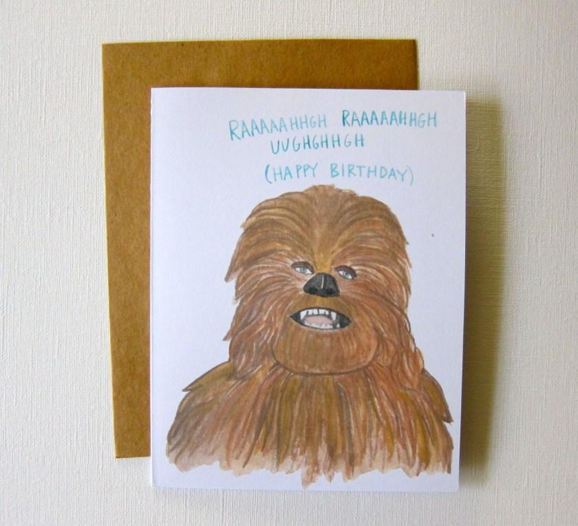 chewbacca star wars birthday card star wars birthday