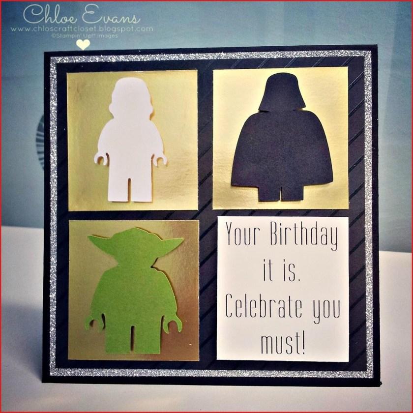 chloe evans lego star wars birthday card birthday card star