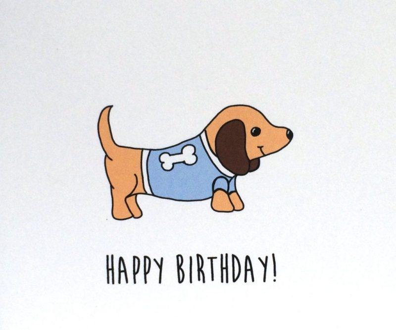 dachshund birthday card birthday card from the dog made