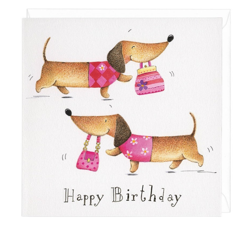 dachshund birthday shopper greeting card dachshund gifts