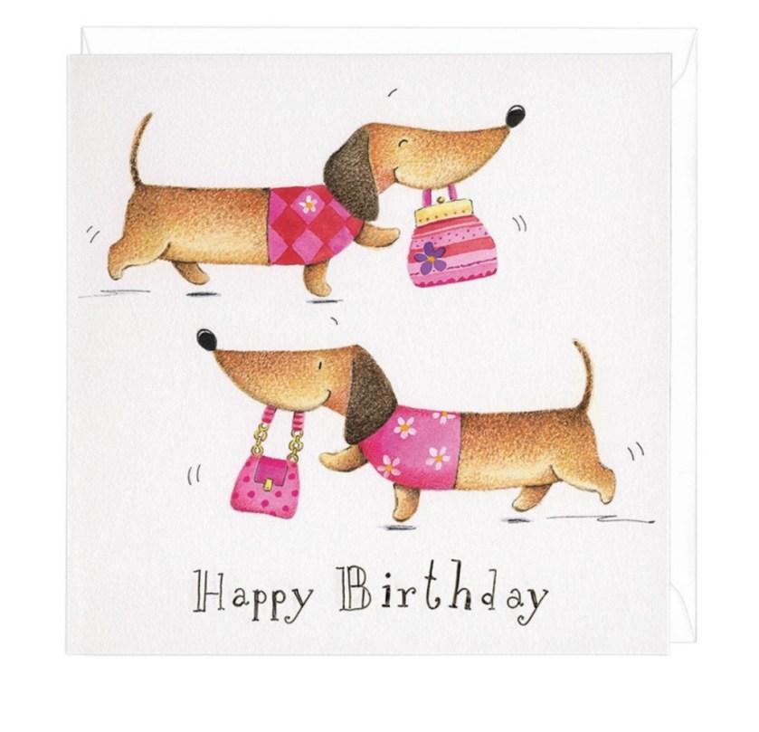 dachshund birthday shopper greeting card dachshund gifts