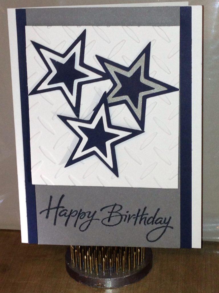 dallas cowboys inspired birthday card homemade birthday