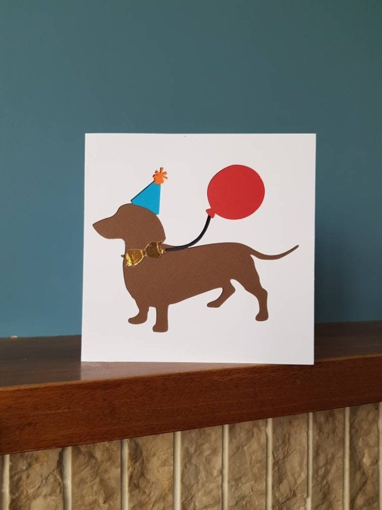 dog birthday card greetings card doggy dachschund dog doggy weiner dog sausage dog ideal for all dog lovers