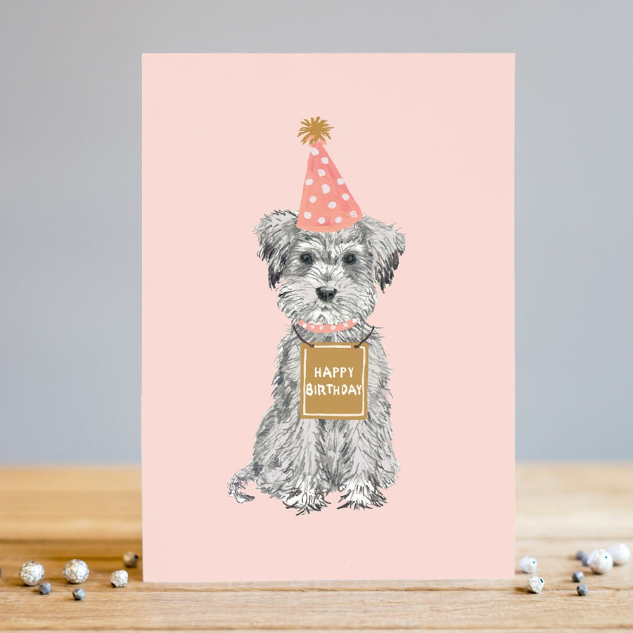 dog happy birthday card