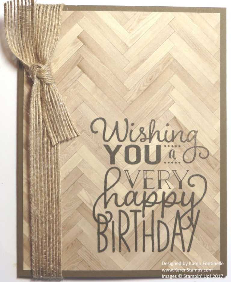 easy masculine birthday card to make stamping with karen
