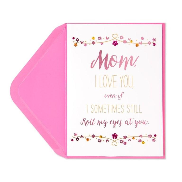 eye roll birthday card for mom
