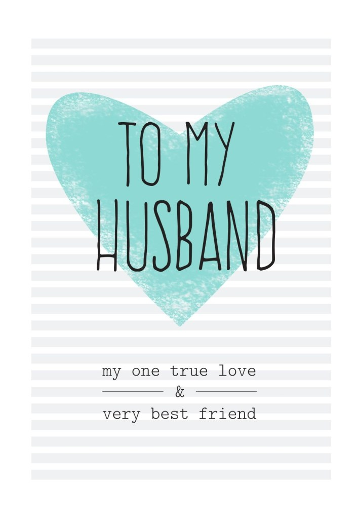 free printable husband greeting card birthday wish for