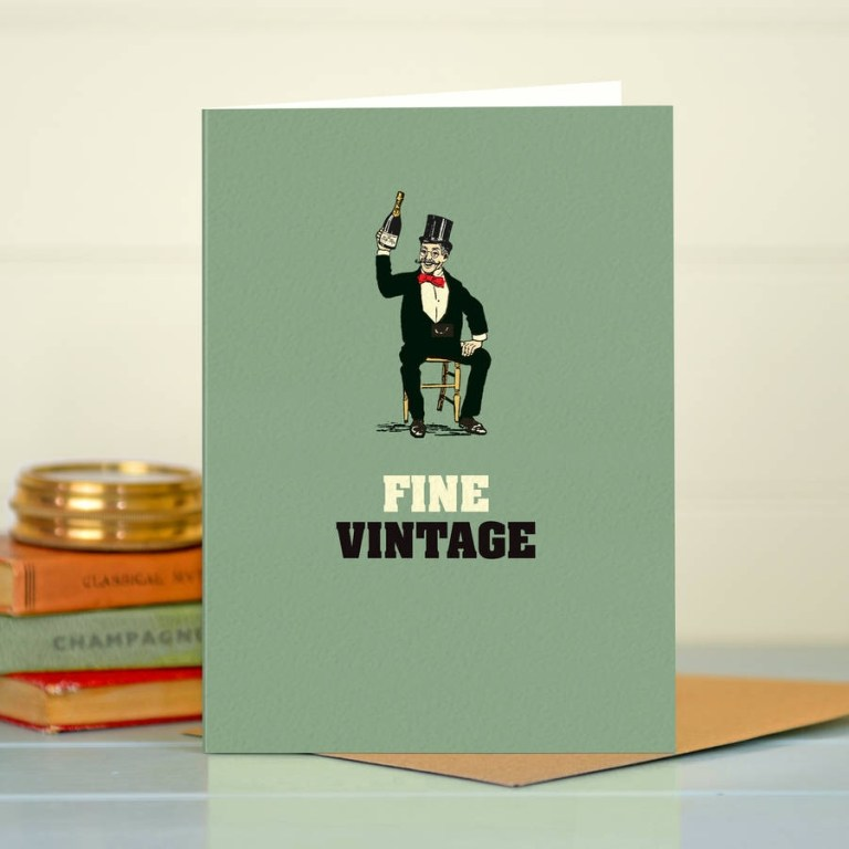 funny birthday card fine vintage
