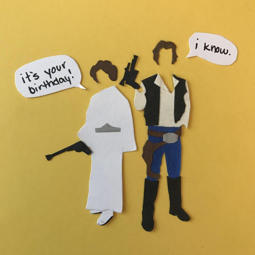 hand cut star wars birthday card oc papercraft