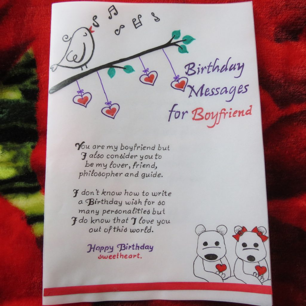handicraft cards handwritten and handmade boyfriends