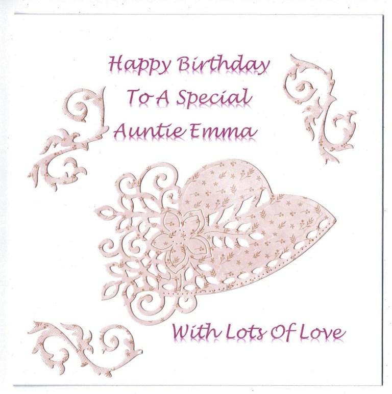 handmade personalised birthday card with vintage hat design sister niece birthday card
