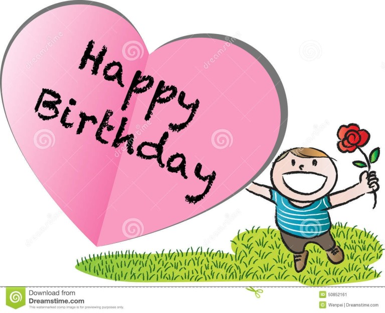 happy birthday card stock illustration illustration of love