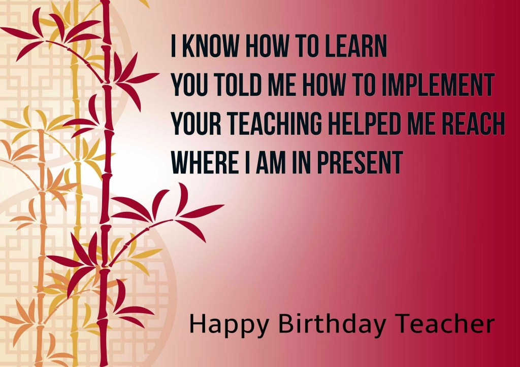 happy birthday greeting cards for teachers birthday