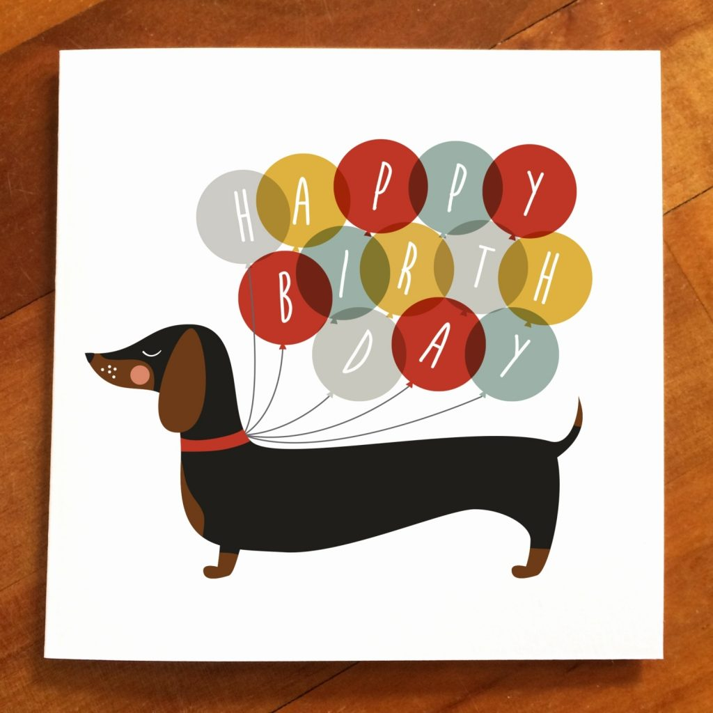happy birthday images with dachshund free bday cards and