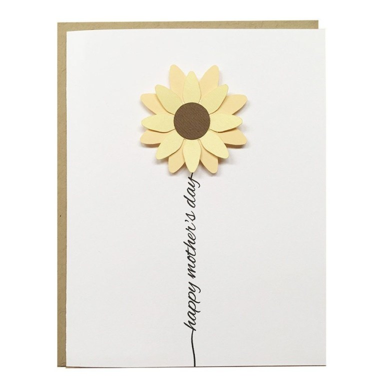 happy mothers day sunflower card ideas cute mothers day