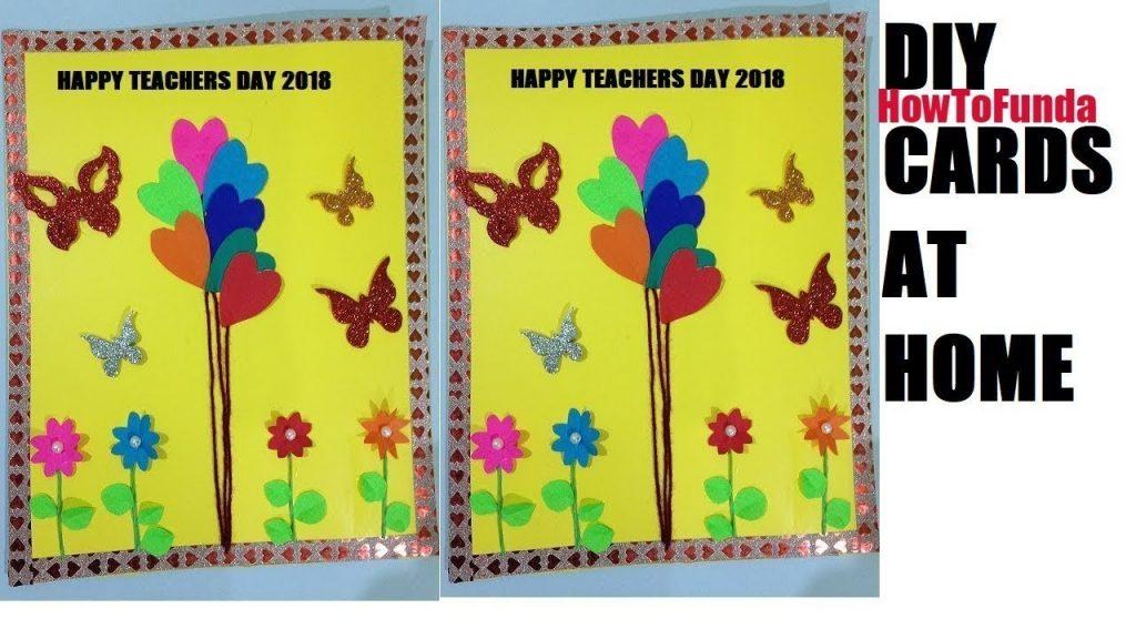 homemade greeting card 2018 for teachers day birthday