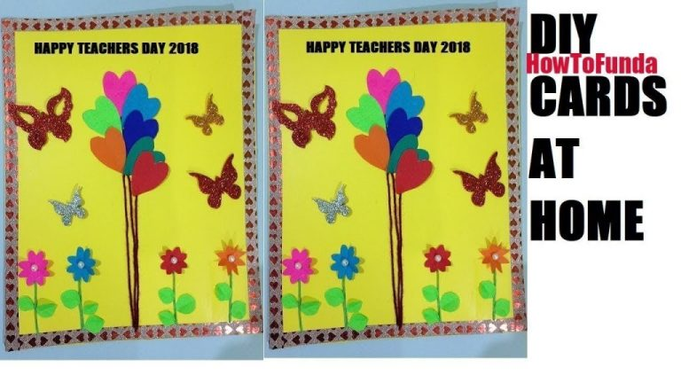 homemade greeting card 2018 for teachers day birthday
