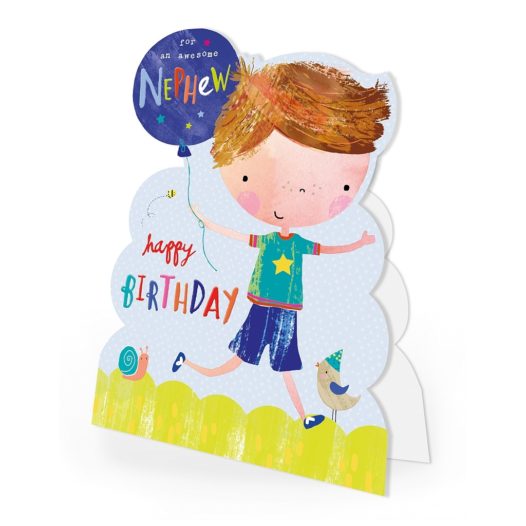 hotchpotch nephew birthday card hkjs16