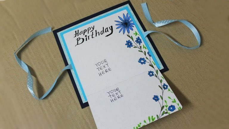how to make birthday card for boyfriend homemade card making