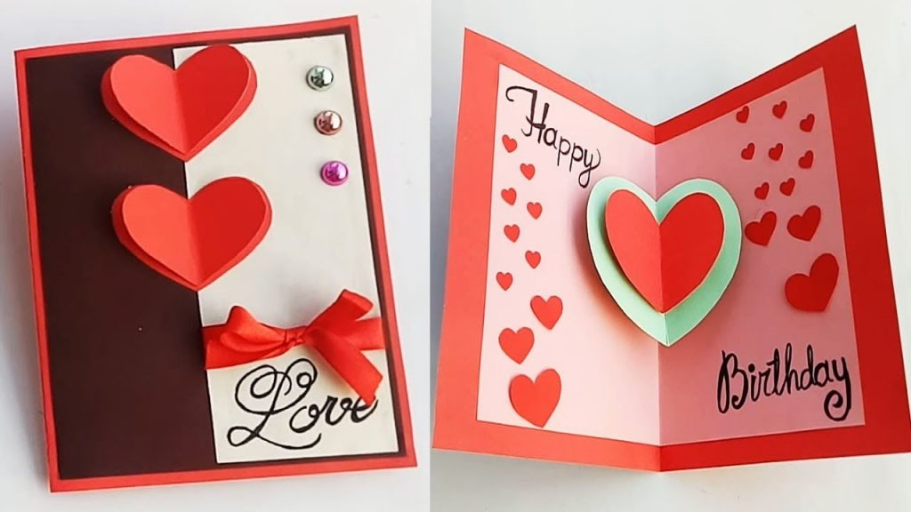 how to make birthday card for boyfriend or girlfriend handmade birthday card idea