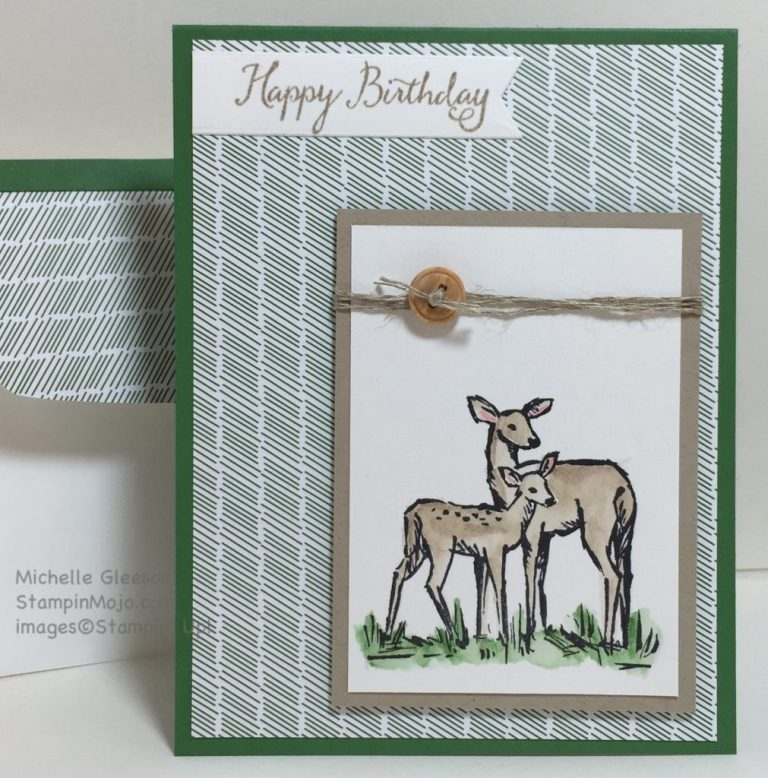in the meadow masculine birthday card stampin mojo