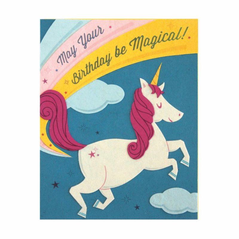 magical magical unicorn birthday card