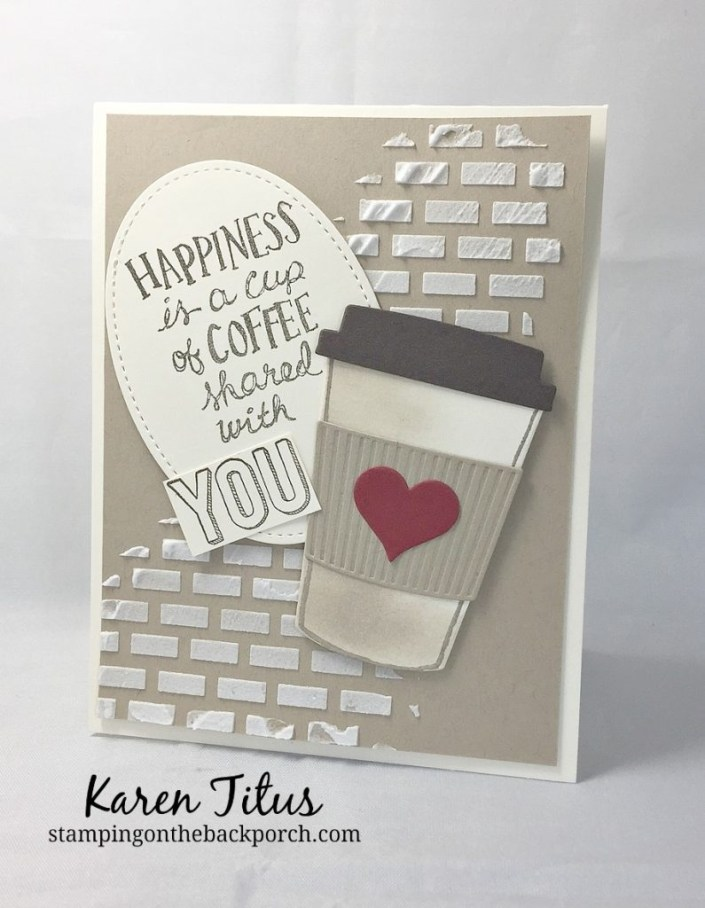 masculine birthday card with coffee cafe