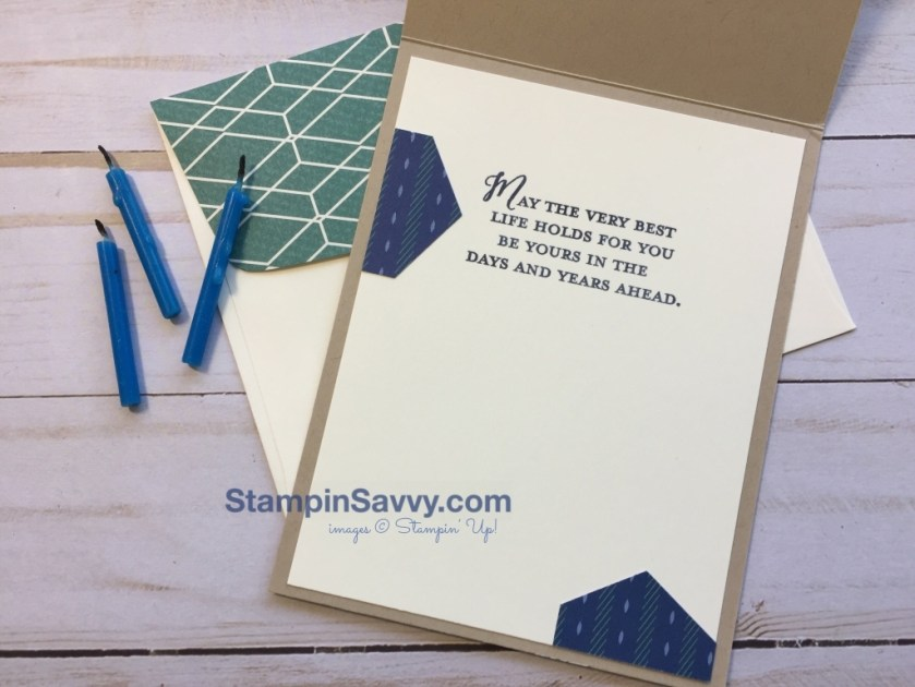 masculine birthday card with surprising and retiring stamps