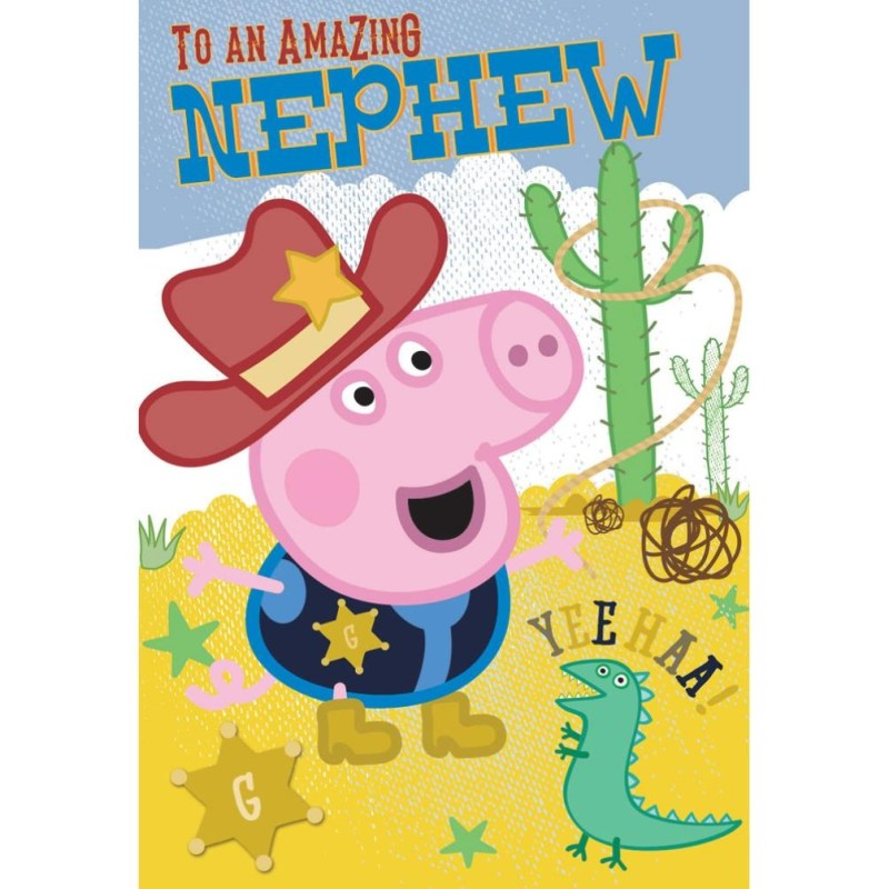 nephew peppa pig birthday card