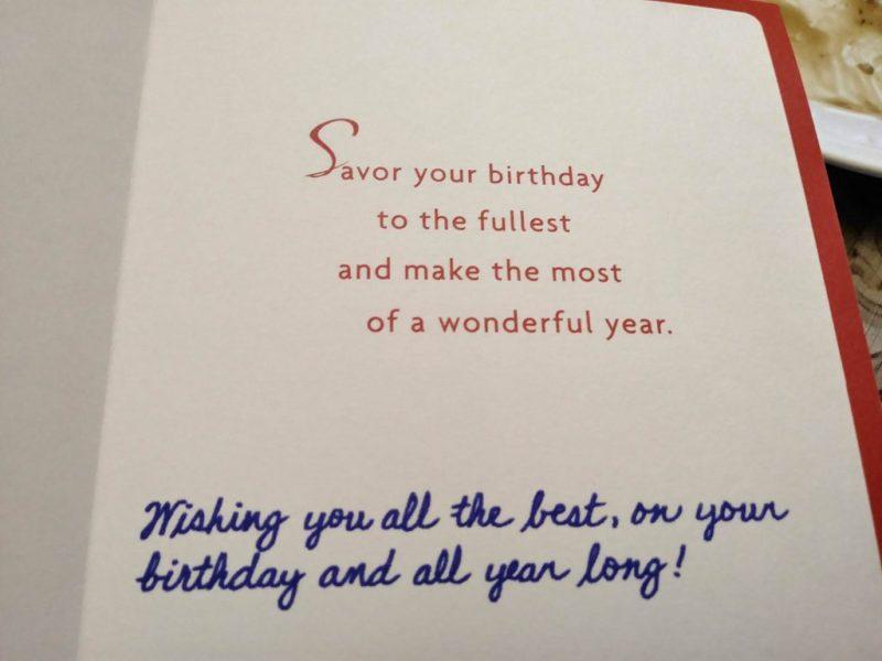 on my moms birthday card blue is handwriting penmanshipporn