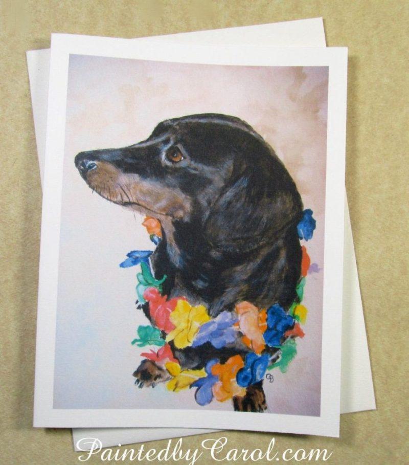 painted carol on twitter dachshund birthday card
