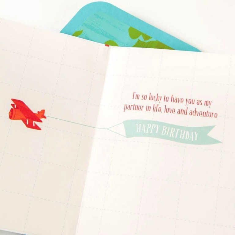 papyrus birthday card for husband love to give you the world