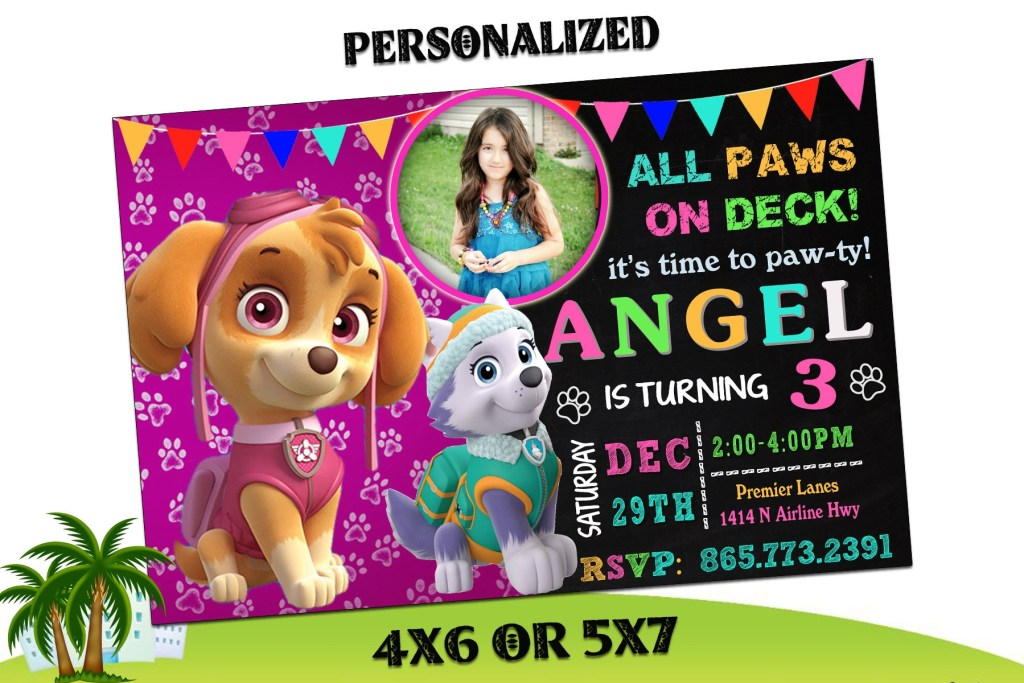 paw patrol invitation paw patrol birthday invitation paw patrol paw patrol printable paw patrol birthday card paw patrol invites