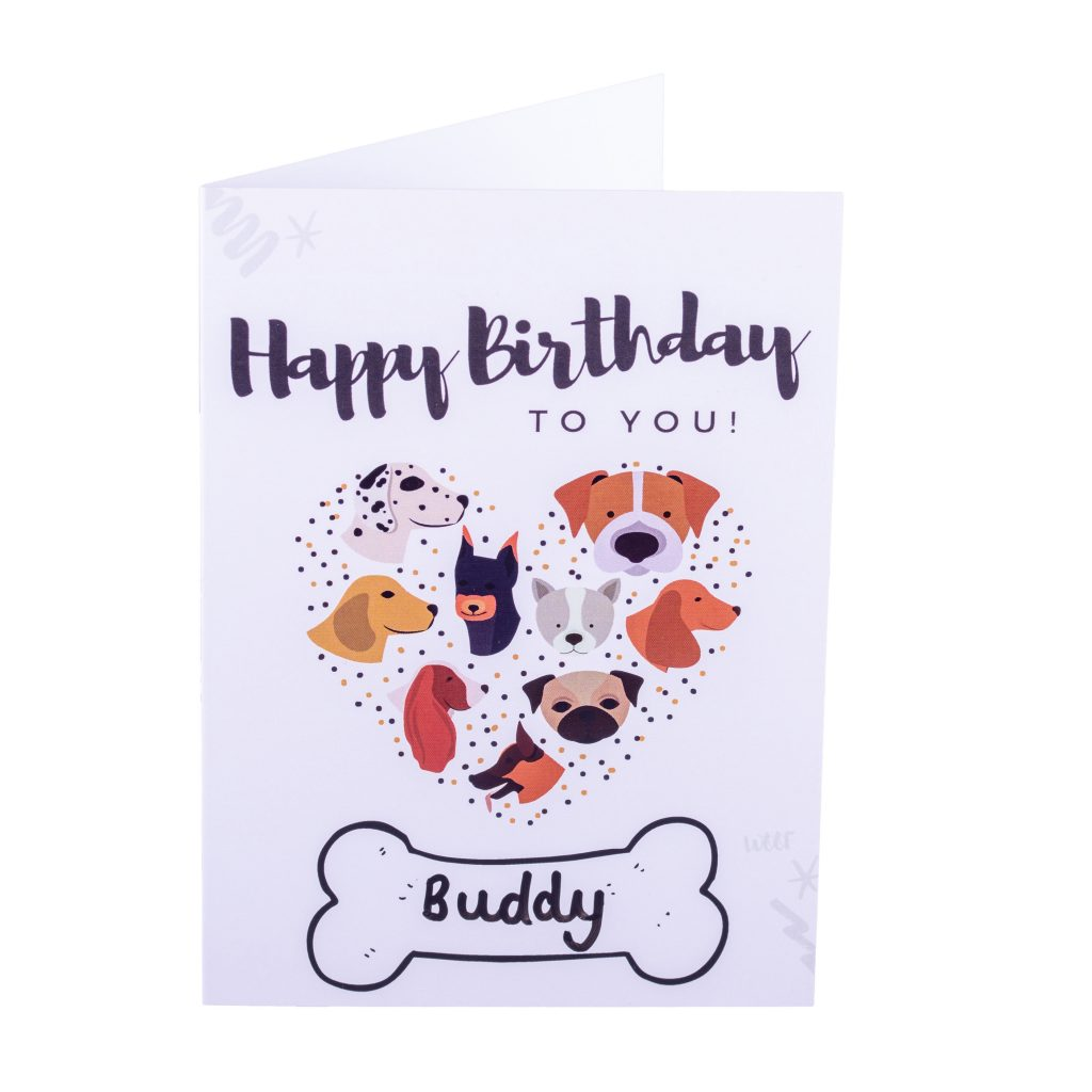 pawbakes personalised dog birthday card