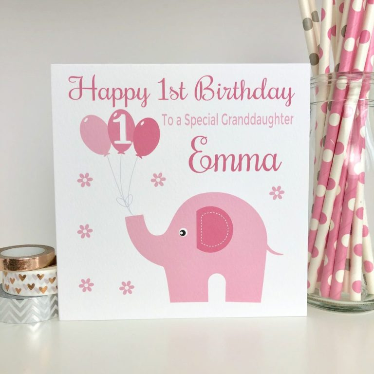 personalised 1st birthday card first birthday card girls birthday card daughter granddaughter sister niece 1st birthday card lb060