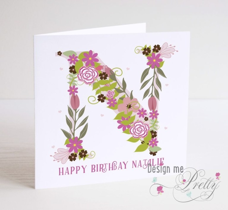 personalised girls a to z birthday card daughter granddaughter sister niece ebay