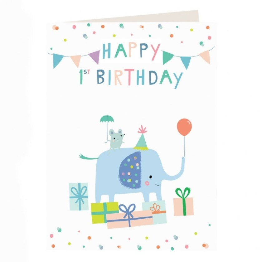 safari 1st birthday card