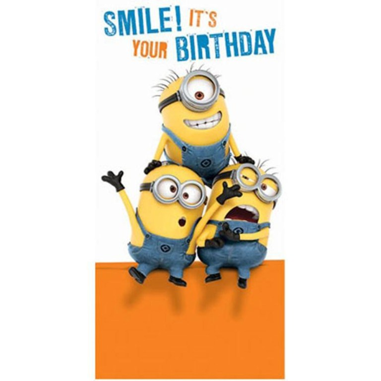smile its your birthday minions money gift wallet card