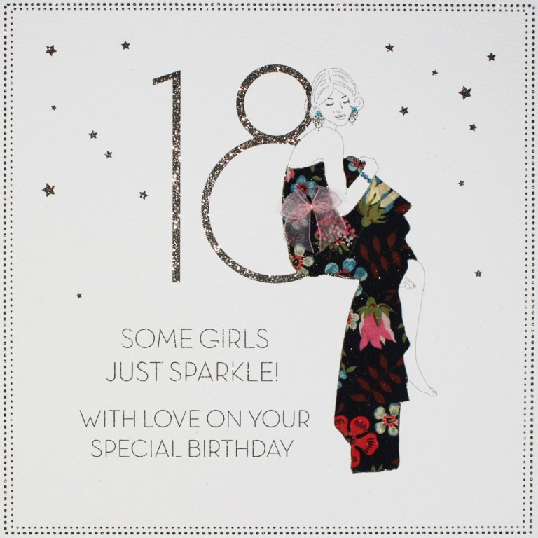 some girls just sparkle large handmade 18th birthday card bly3