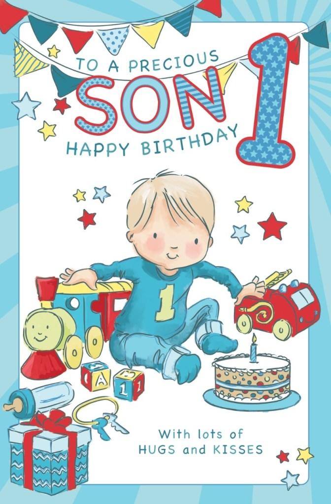 son age 1 birthday card