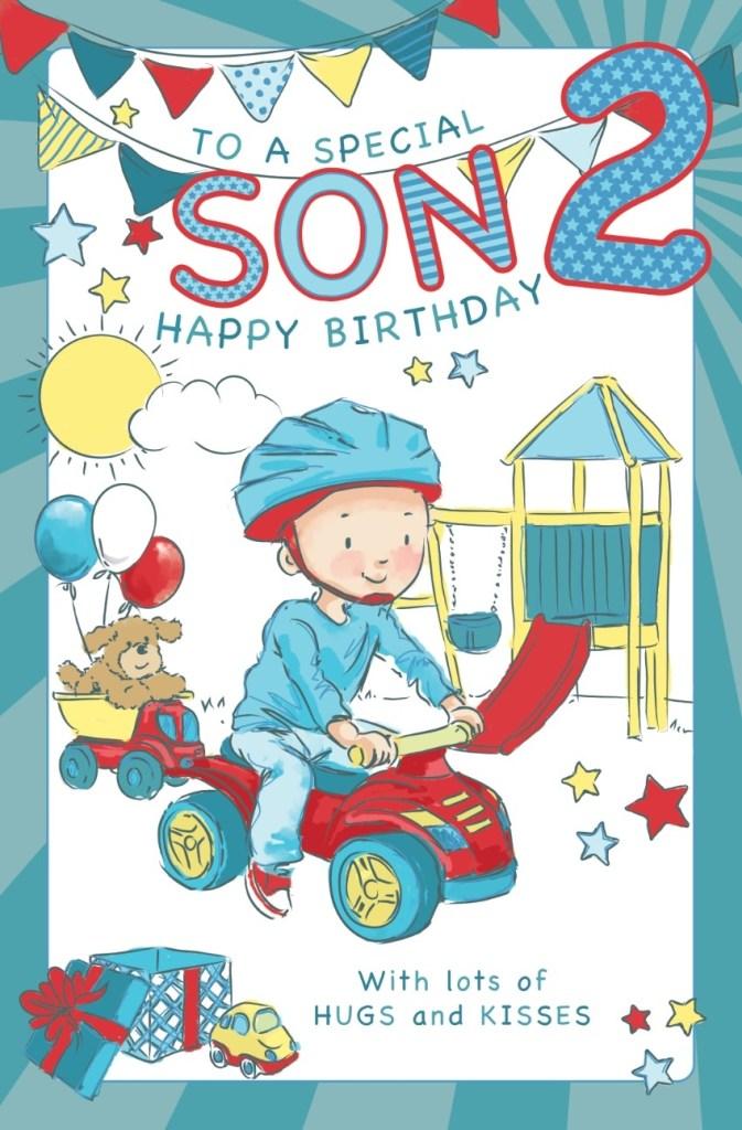 son age 2 birthday card