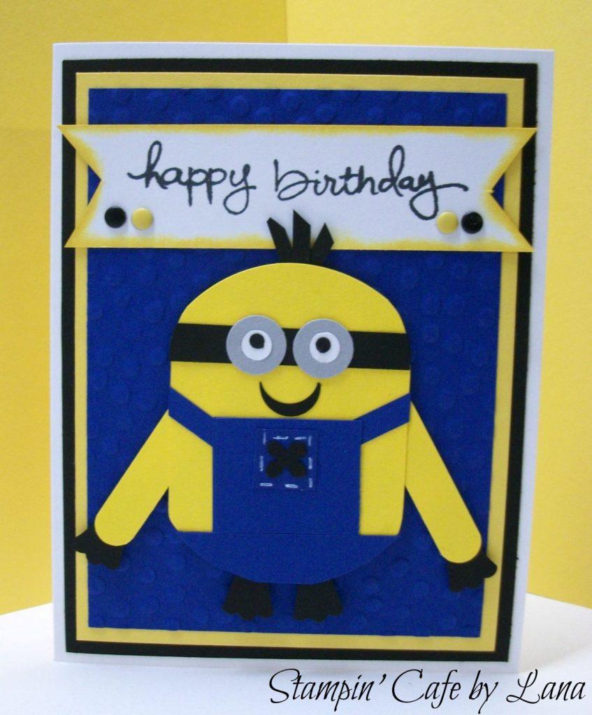 stampin cafe lana minion birthday cards